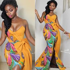 ankara mode Latest Ankara Short Gown Trends 2018 We're already in the month of April and there's been so many trends especially in the fashion w. Latest African Fashion Dresses, African Print Dresses, African Print Fashion, African Dress, Ankara Fashion, Africa Fashion, African Prints, Trendy Ankara Styles, Kente Styles