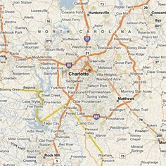 Map of charlotte nc and surrounding area Zip Code Map Of Charlotte Nc on
