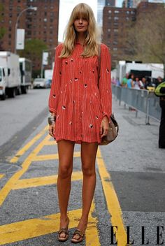 I'm pretty sure she is in NY, But this dress is so Paris...if my behind wasn't so big id wear it!!!