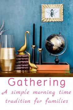 Gathering - morning time place mats for your kids. Finally get to the art study, hymns, and Bible memory work you have been wanting to get to, effortlesslessly