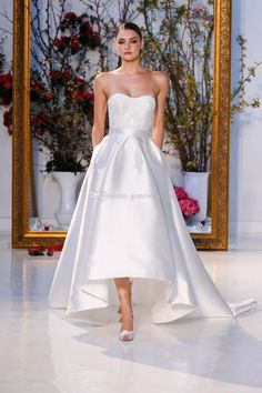 2017 High Low Summer Wedding Dresses Strapless Necline Beaded Lace Appliques On Bodice And Skirt With Pockets Wedding Gowns Backless Wedding Dresses Bridal Dress From Gonewithwind, $201.01| Dhgate.Com