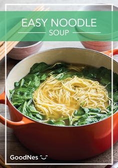 Stay warm this winter season with a quick and easy to make Noodle Soup. Featuring Buitoni® Refrigerated Angel Hair and Maggi® Chicken Flavor Bouillon Tablets, you will have a delicious meal with a taste you'll love. Simple Noodle Soup Recipe, Quick Soup Recipes, Chili Recipes, Asian Soup, Angel Hair, Chicken Flavors, Winter Season, Stay Warm, Noodles