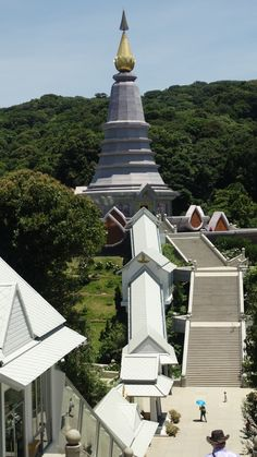 The Queen's Pagoda, Doi Inthanon, Thailand. Burj Khalifa, Asia, Building, Travel, Thailand, Viajes, Buildings, Traveling, Trips