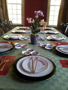 Themed Family Dinners: Chinese Food Tablescape