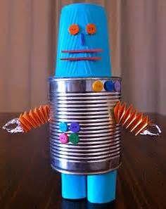 robot more robot knutselen abby robots recycled robot thema robot ...