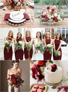 marsala blush and gold wedding - Google Search