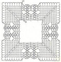 Lovely frame for your favorite crochet square, chart
