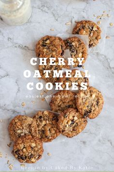 Chewy cherry oatmeal cookies loaded with dried cherries, white chocolate chips, and whole grain oats. An easy-one bowl recipe for the best every summer cherry oatmeal cookies.