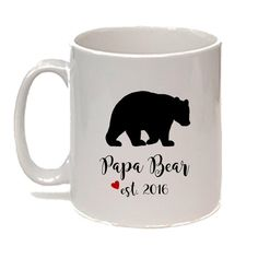 Pap Bear Mug Mama Bear Mug Pregnancy by NoteWorthyStationery