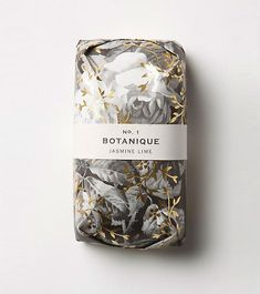 Stylish Branding - Gold foiled flower soap packaging