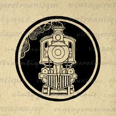 Steam Engine Locomotive Train Graphic Printable Download Illustration Image Digital Artwork Vintage Clip Art. Printable high quality digital illustration for fabric transfers, printing, papercrafts, and more. Personal or commercial use. This digital image is high quality, high resolution at 8½ x 11 inches. Transparent background PNG version included.