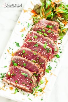 Marinated Seared Ahi Tuna - Made this. So crazy good!