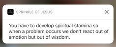 - spiritually strong