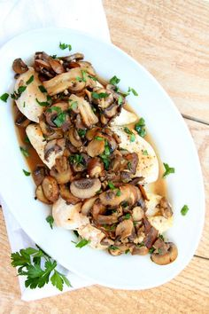 Chicken Cutlets with Mushroom Wine Sauce Recipe