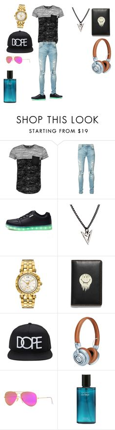 """teenager \ cool"" by marccoltonaddison ❤ liked on Polyvore featuring Boohoo, AMIRI, Brianna Lamar, Versace, Coach, 21 Men, Master & Dynamic, Ray-Ban, men's fashion and menswear"