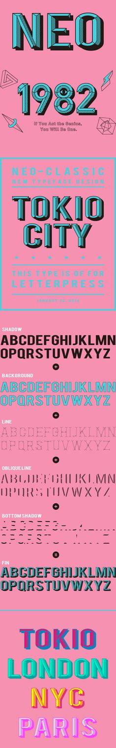 NEO TYPEFACE by Jimba Osamu, via Behance