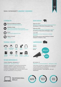 24 Functionally creative Graphic Design Resumés