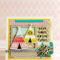 Crate paper journey card by christine middlecamp