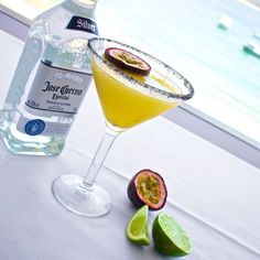 Thursday in Tijuana by Santiago Martínez Gomez COLOMBIA  45 mls Silver Tequila  20 mls Cointreau  30 mls Lime juice  20 mls Sugar Syrup  Pulp from one Passion fruit  2 Dashes of Tabasco  Shake over ice, strain, garnish with Charcoal salt and half a passion fruit   #cocktailsaroundtheworld #sharingiscaring #ThursdayinTijuana