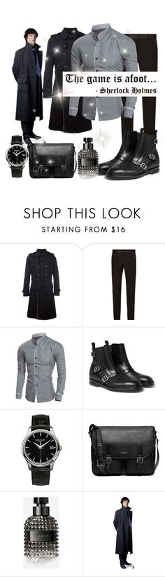 """""""Untitled #3175"""" by princhelle-mack ❤ liked on Polyvore featuring Valentino, Dolce&Gabbana, Alexander McQueen, Patek Philippe, Michael Kors, WALL, men's fashion and menswear"""