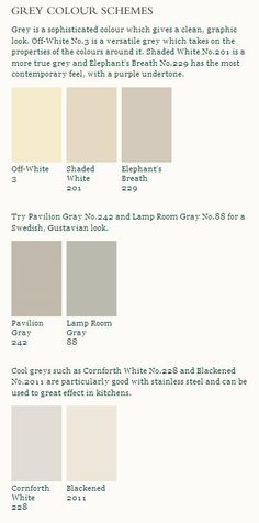 Love the kitchen suggestions from Farrow and Ball