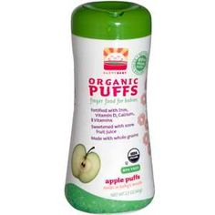Nurture Inc. (Happy Baby), Organic Puffs Finger Food for Babies, Apple Puffs, 2.1 oz (60 g)  Now 1st time buyers save $10 off orders of $40 and more and $5 off orders less than $40 at iherb.com with discount code ATA717