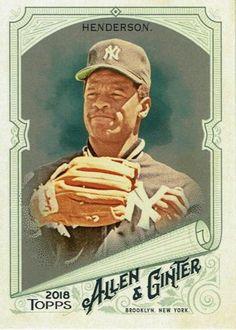 2018 Allen & Ginter HOT BOX GLOSSY #341 Rickey Henderson (Yankees) Rickey Henderson, Trading Cards, Mlb, Baseball Cards, Ebay, Collector Cards