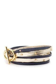 Graham Double Strand Triple Wrap Bracelet