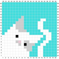 Welcome to my first ever Ink & Stitches CAL! Cross Stitch Charts, Cross Stitch Designs, Cross Stitch Patterns, Tapestry Crochet Patterns, Crochet Wall Hangings, C2c Crochet Blanket, Crochet Chart, Pixel Pattern, Cat Pattern