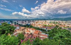 View to the historic city of graz