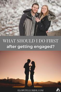 Your partner popped the question, but...now what? We're sharing the best 3 tips for how to start wedding planning! Use this checklist from your friends at Elope Telluride. Whether you want to have a large church wedding, a sunset adventure elopement in Colorado, or a destination micro wedding in Telluride. Romantic summer, snowy winter and Rocky Mountain fall brides can use our inspiration ideas to get started! #microwedding #coloradowedding #adventureelopement #engaged #gettingmarried