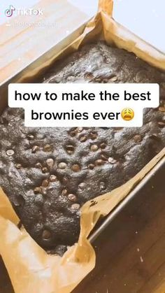 Easy Baking Recipes, Snack Recipes, Snacks, Healthy Dessert Recipes, Dinner Recipes, Delicious Desserts, Yummy Food, Starbucks Recipes, Best Brownies