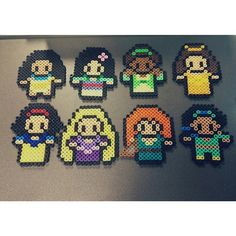 Disney princess perler beads by colleenalexis {that's me!}