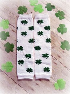 St. Patrick's Day Clover Leg Warmers!