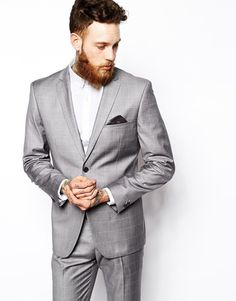 $86, Grey Plaid Blazer: Vito Suit Jacket In Check. Sold by Asos. Click for more info: https://lookastic.com/men/shop_items/291527/redirect