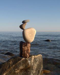 Awareness of balance - stone balancing Stone Balancing, Stone Art, Yoga Inspiration, Rock Art, Mindfulness, Balance Art, Balance Quotes, Wisdom, Stacked Stones