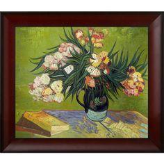 Vincent Van Gogh 'Majolica Jar with Branches of Oleander ' Hand Painted Framed Art