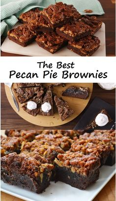 The Best Pecan Pie Brownies
