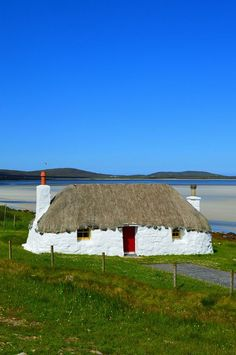 Small cottage on the Isle of North Uist, Scotland.