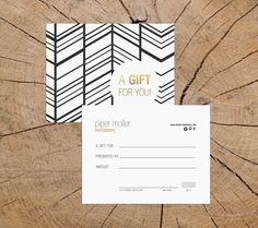 Elvira v2 double sided gift certificate template by deideigraphic More
