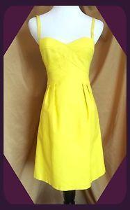 Anthropologie Yellow Dress by Nanette Lepore Size 2 | eBay