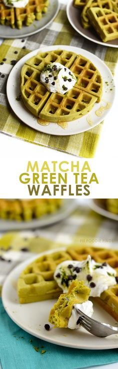 Matcha has so many benefits beyond your standard green tea latte! Here are 20 Healthy Matcha Recipes with Matcha Green Tea so you can benefit from all of its antioxidant health properties! Matcha Dessert, Green Tea Recipes, Snacks Saludables, Waffle Recipes, Matcha Green Tea, Cakepops, Donuts, Dessert Recipes, Yummy Food