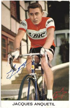 Another legendary entertainer of cycling, Jacques Anquetil is the first #cyclist to win the Tour de France five times and the first rider to complete victories in all three Grand Tours including two Giro d'Italia and a Vuelta a España titles.