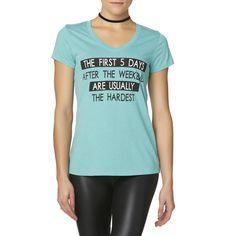 Joe Boxer Juniors' Graphic T-Shirt - 5 Days Hardest, Size: Medium, Multi-Color