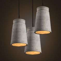 European Retro creative cement dining room drop lights Industrial pendent lights LED single lights for bar cafe shop Dining Lighting, Pendant Lighting, Island Lighting, Kitchen Lighting, Light Art, Birdcage Chandelier, Round Dining Table Modern, Hanging Light Fixtures, Hanging Lamps