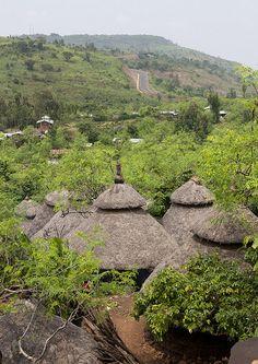 Village, Konso Cultural Landscape of Ethiopia ~ UNESCO World Heritage Site. Photo: Eric Lafforgue via Flickr
