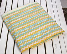 Beautiful Mod Cotton and Minky Baby Blanket Larger by ChubbyLove, $45.00