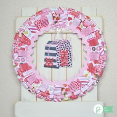 Have you seen the Pebbles Be Mine Collection? Oh, it is SO adorable! Amy here from The Happy Scraps today, and I had SO much fun playing with this collection. So much pink and red goodness. Today I'm going to show you how to make this Be Mine Valentine Wreath. Collect all the Be Mine …