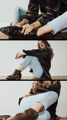 Matisse Footwear - My current obsession for women's ankle boots. The Going West Ankle Boot in Brown Snake.part of Coconuts by Matisse, is my winter go-to! Portrait Photography Poses, Photography Poses Women, Girl Photography Poses, Photo Poses, Fashion Photography, Photography Classes, Digital Photography, Wedding Photography, Girl Sleeves