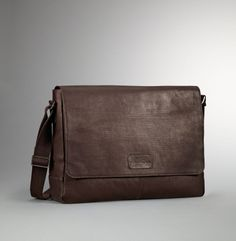 Perforated Leather Messenger Bag - Kenneth Cole $225